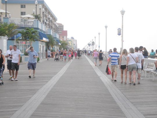 Ocean City Boardwalk on a Saturday afternoon
