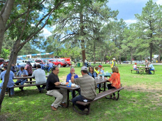 Sunshine, hot dogs and hamburgers created a great atmosphere