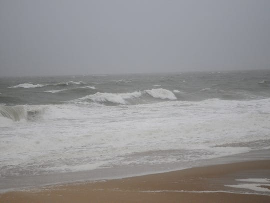 Waves in Bethany Beach during Tropical Storm Hermine