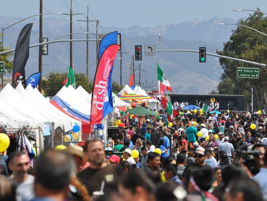 Thousands of Salinas residents turned out Sunday along