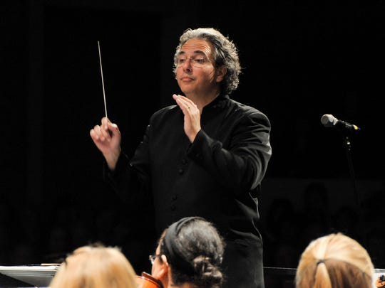 Music director Raffaele Ponti of the Charlotte Symphony Orchestra
