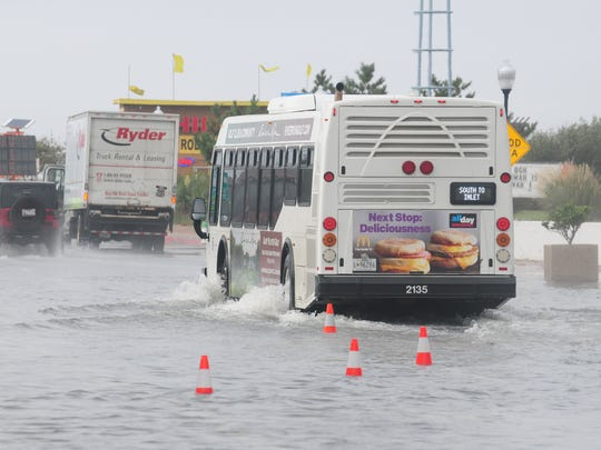 Flooding in the Ocean City inlet on Friday, Sept. 30.