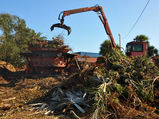 FEMA contractors removed massive piles of storm debris in Brevard after Hurricane Matthew. FEMA funds, influenced by U.S. Census results, are critically important in a community that's always on alert for hurricanes.