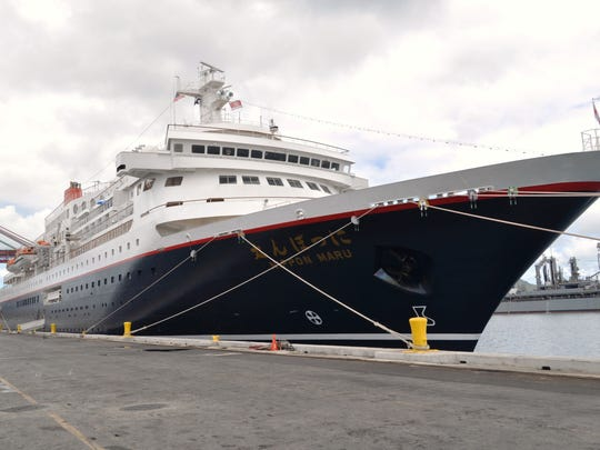 This file photo shows the Nippon Maru cruise ship in Guam's harbor. Norwegian Cruise Line hosted two days, with two sessions each, in which interested participants learned the ins and outs of working for the company.