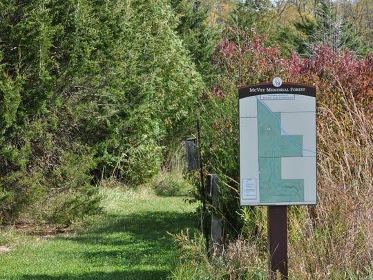 McVey Memorial Forest is a 249-acre nature preserve.