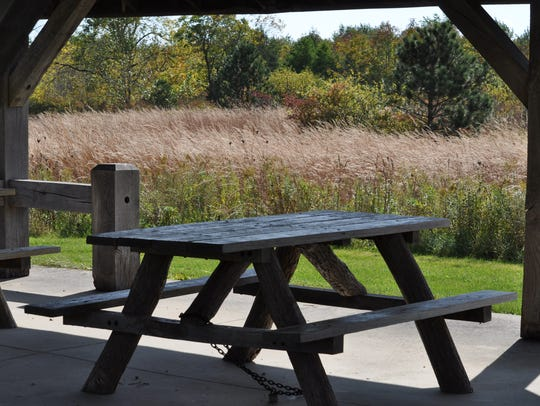 Families with young children can enjoy the picnic pavilion,
