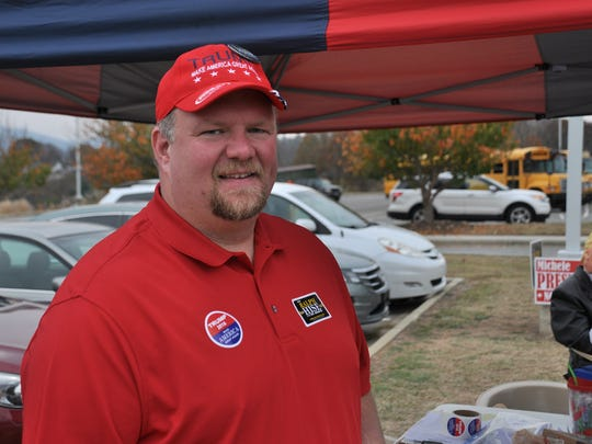 N.C. Sen. Ralph Hise made an Election Day stop to the Mars Hill precinct.