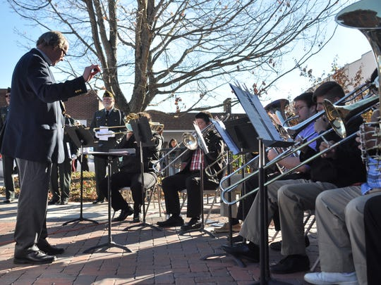 Mars Hill University musicians perform during the brief