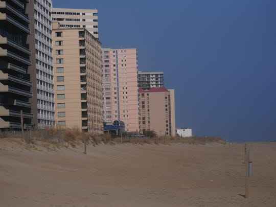 Coastal area north of 96th Street in Ocean City.
