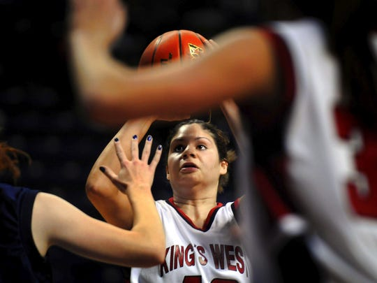 Megan Spence helped the King's West girls basketball team become a regular at the Class B state tournament in Spokane.