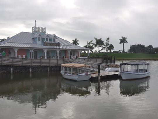 The new electric boat at Naples Reserve is  22 feet