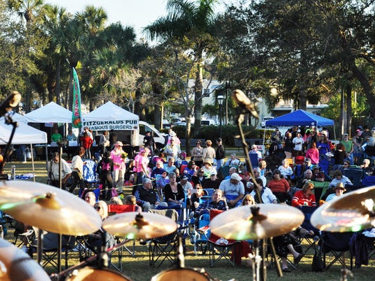 People gather prior to last year's CREW Land & Water Trust concert.