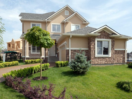 Newly constructed home in the suburbs with nice yard