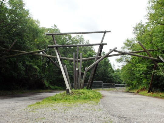 The entrance to the old Jungle Habitat theme park in West Milford as seen on July 8, 2015.