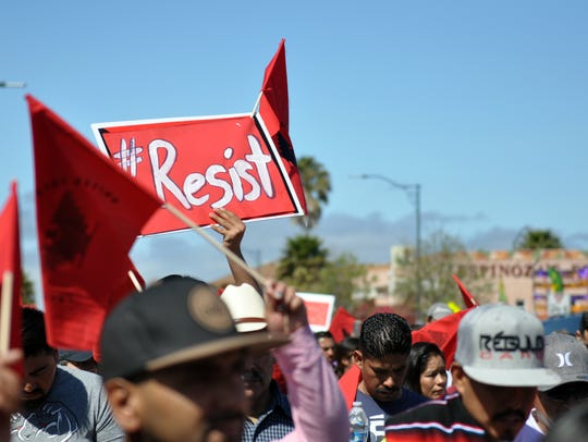 Scenes from the 2017 César Chávez March in Salinas,