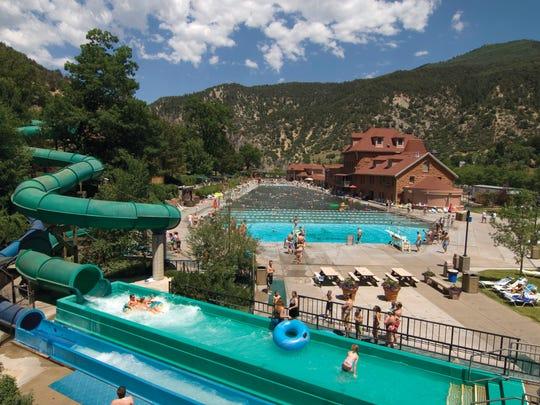 Swimming at Glenwood Hot Springs Lodge. This lodge