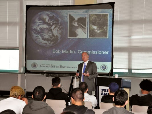 State DEP Commissioner visits MCVTS Perth Amboy Campus