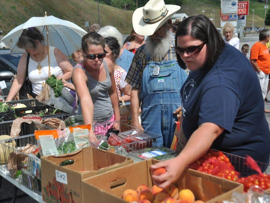 Healthy food options are made available for free to all Madison residents the fourth Wednesday of every month.