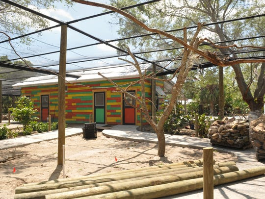 A new aviary area.The Brevard Zoo is preparing for