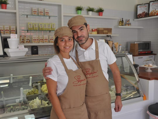 Mauro Filippeddu and his wife Antonella Scampuddu are the owners of Sospiri Italian Bakery & Gelato