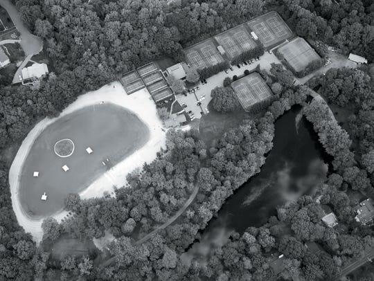 Aerial Photo - Brookside Raquet Club 480 Brookside
