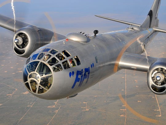 """B-29 Superfortress bomber """"Fifi"""" and four other World War II airplanes are coming to Lunken Airport July 10 through July 14."""