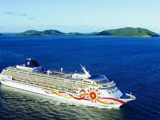The Norwegian Sun, shown  in Tortola, British Virgin Islands, will be based at Port Canaveral Cruise Terminal 10 starting in May. It will have sailings to Cuba and to the Bahamas.