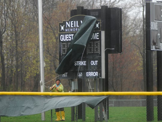 The score board bearing Robert Vill's name, the long