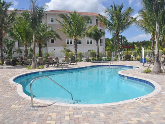 The pool and spa are some of the amenities at Diamond Oaks Village.