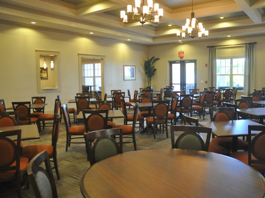 Breakfast is included for residents of Diamond Oaks Village, but there is also a dining room where residents can purchase meals.
