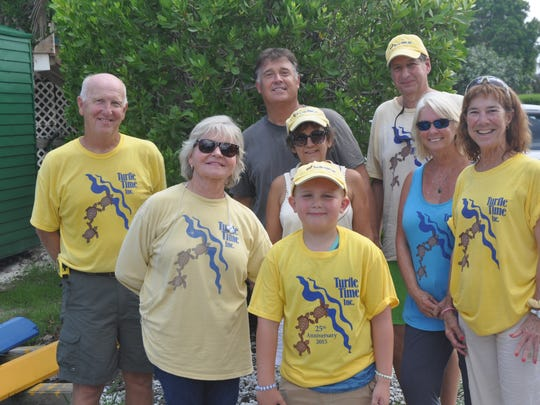 The Chapman family and members of Turtle Time get together
