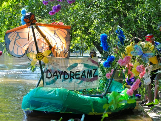 Daydreamz gets ready to go at the Anything That Floats Parade on Saturday at Hominy Creek Park in Asheville.