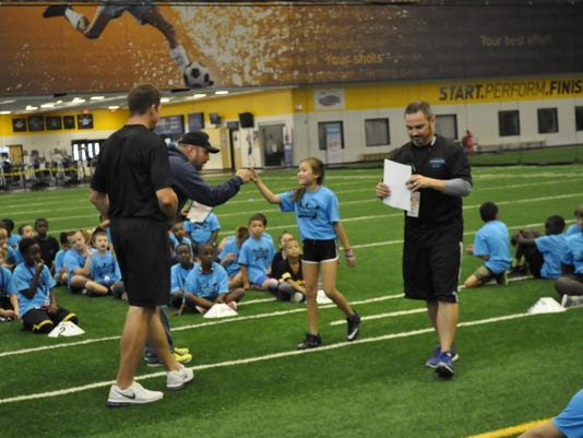 Football ProCamp with Dallas Clark and Garth Brooks