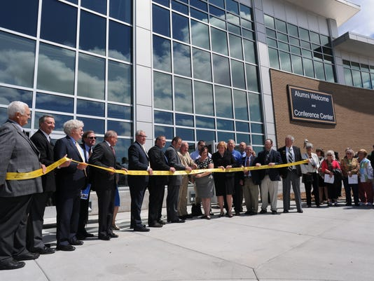 Alumni Welcome and Conference Center ribbon cutting