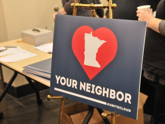 """#UniteCloud's """"Love Your Neighbor"""" signs started appearing"""