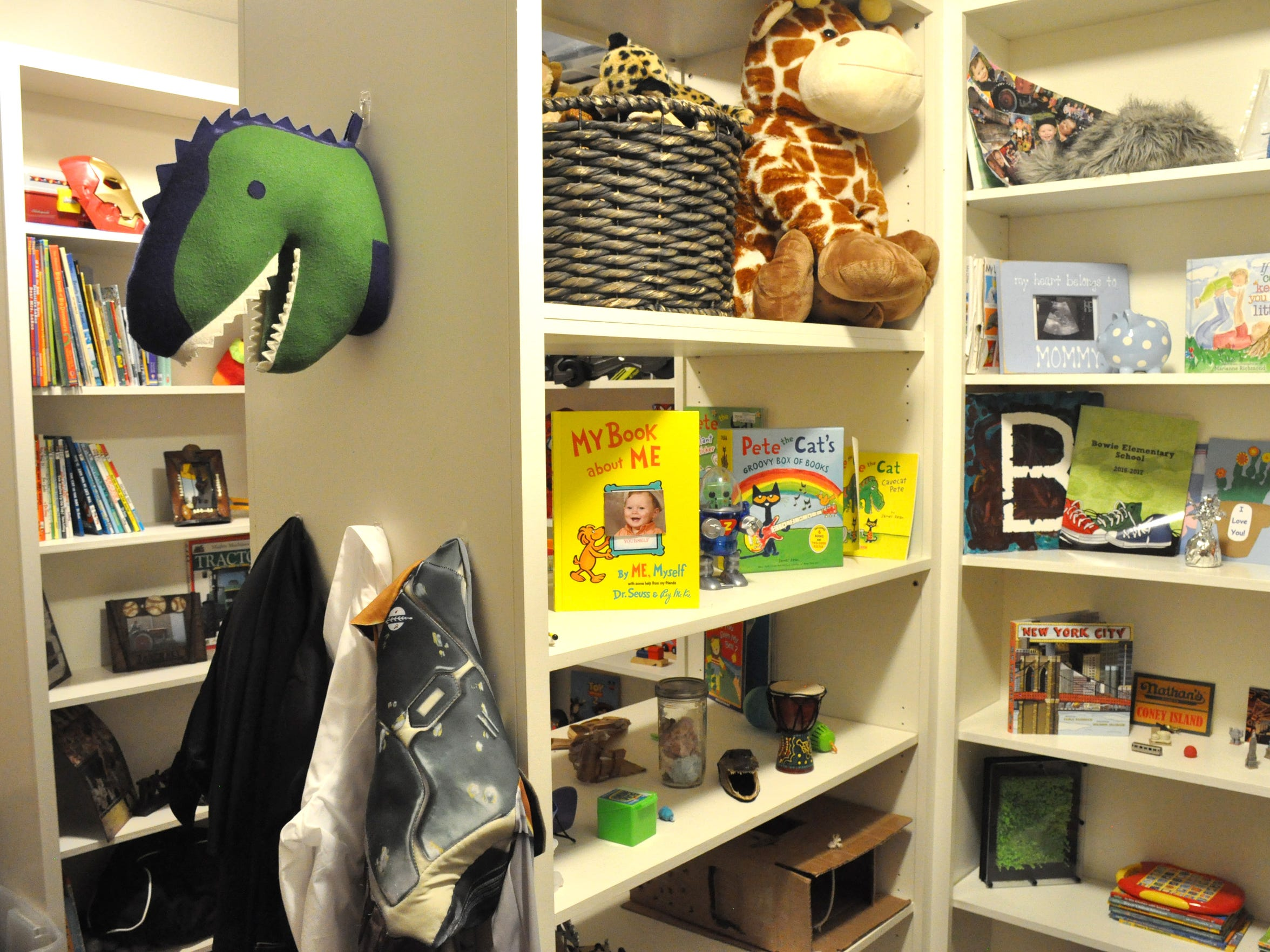 """Family Care clients live in suites in the A.L. """"Dusty"""" and Nancy Rhodes Family Care Complex. The suites include a large closet space for their personal items, such as children's toys pictured on Oct. 3, 2017."""