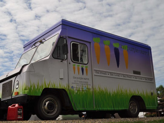 The Purple Carrot, a food truck that offers a menu