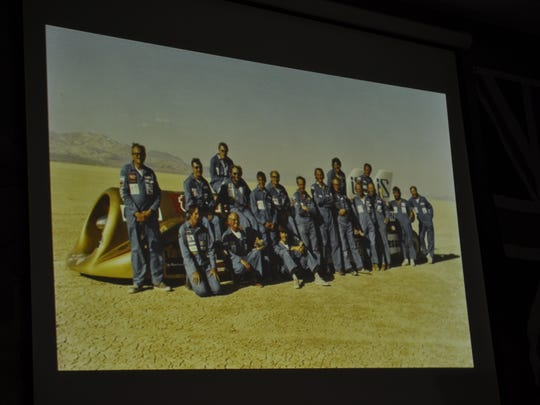 Glynne Bowsher, one of the engineers behind the Thrust SSC, shares a photo of the entire build team from the original 1982 land speed record, prior to the current 1997 record.