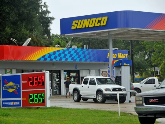 As Hurrcane Irma approached Florida in September 2017 residents of Titusville, near Kennedy Space Center, stopped for last-minute items and fuel. Since Irma and Hurricane Harvey subsided, American drivers have paid lower prices at the gas pump for five straight weeks, and the cost of filling up could soon slideback to post-storm levels.