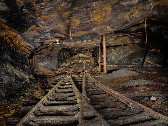 Inside an unidentified abandoned coal mine in Pennsylvania.
