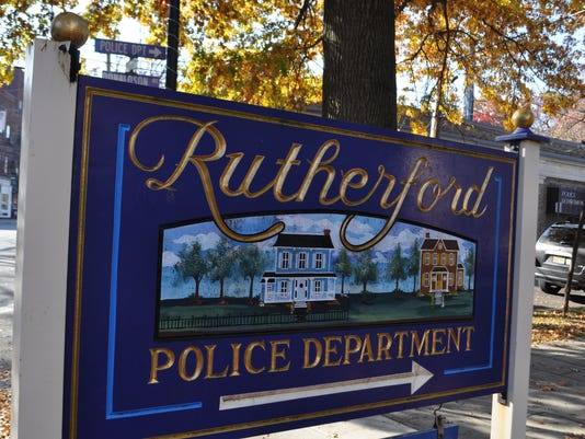 Rutherford Police sign