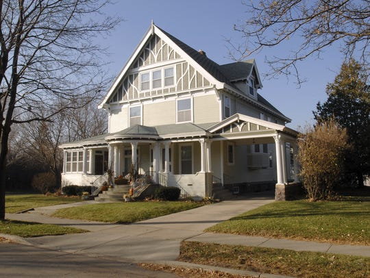 The home of Lou and Maggie Barnett, which the couple
