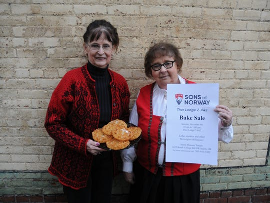 Evelyn Moreland and Connie Bowers at the Statesman