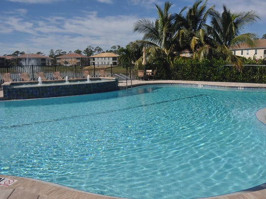 The clubhouse and pool recently opened at Creekside