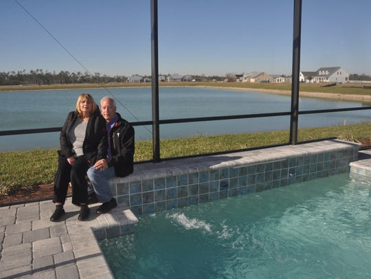 Richard and Robin Kinley were the first residents to
