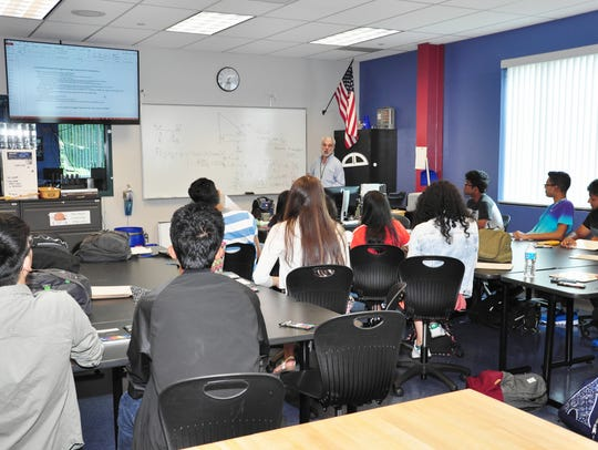 Students at the Middlesex County Academy for Science,