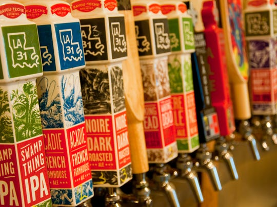 Bayou Teche Brewing has up to 24 beers on tap, some of which are only available at the taproom.