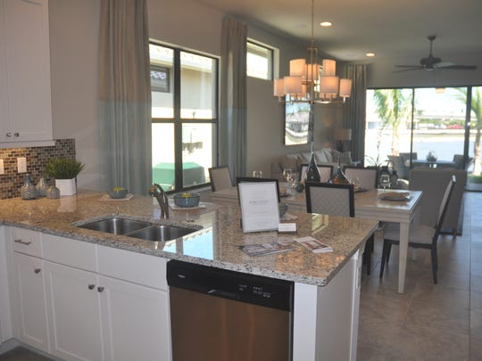 The Amalfi is one of four models at Venetian Pointe.