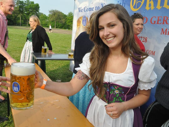 Estabrook Beer Garden hoists a stein for Mai Fest this weekend.