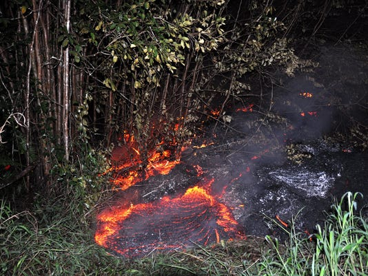 Hawaii Lava Flow Threatens Dozens Of Homes